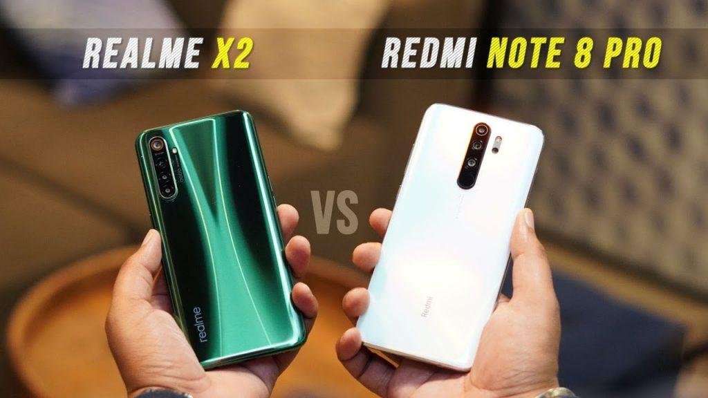 Comparison between Redmi Note 8 pro vs realme X2