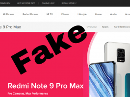 Fake Xiaomi websites on the internet amid the coronavirus lockdown