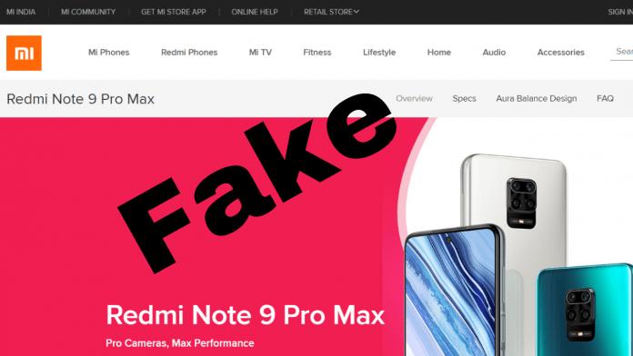 Fake Xiaomi websites on the internet amid the coronavirus lockdown